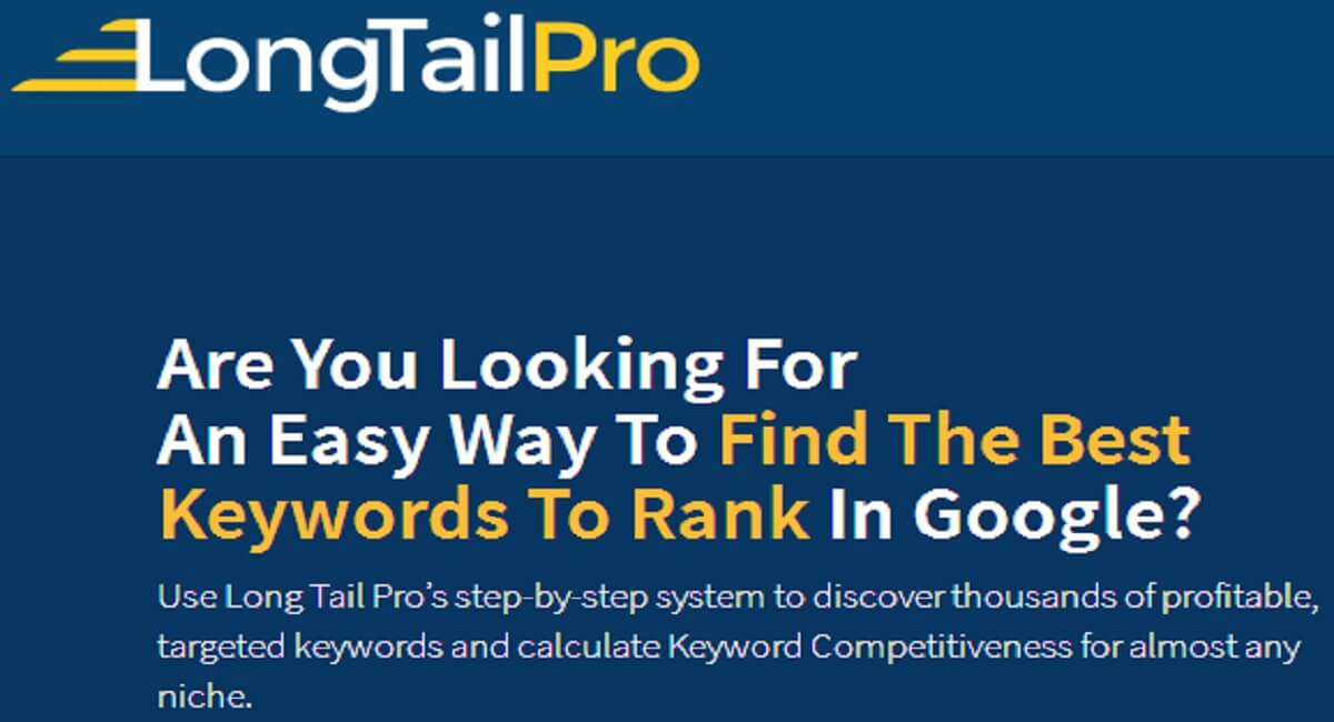 Long Tail Pro Group Buy  - The Best Keyword Research Tool in 2020